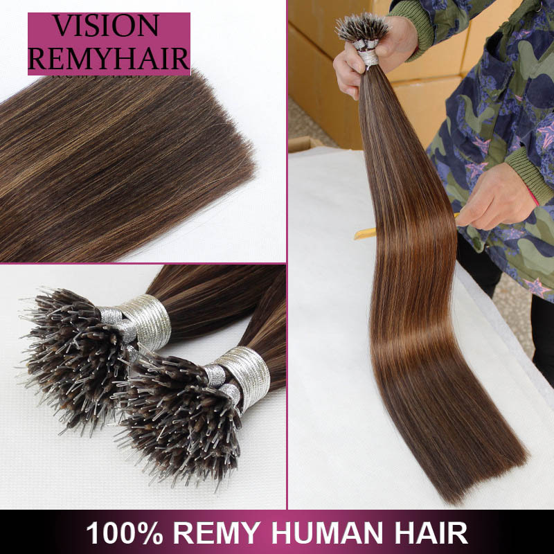 European Double Drawn Hair Extension 0.5g Nano Ring 01