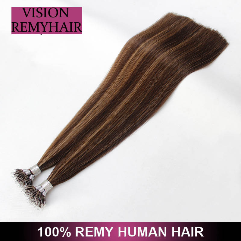Nano ring remy hair Wholesale Human Cuticle Aligned Remy Russian Nano ring hair