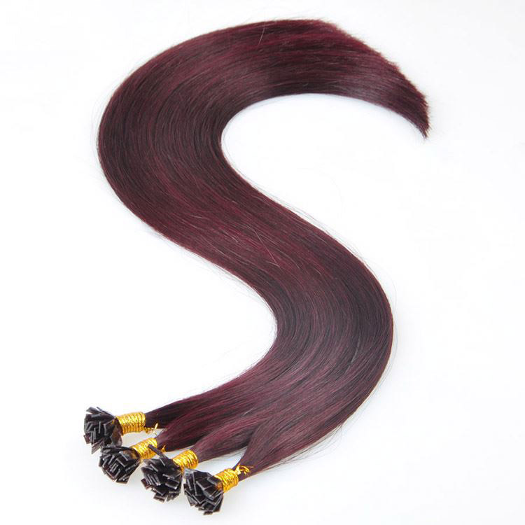 Factory Direct Tangling Free Double drawn flat tip hair 5
