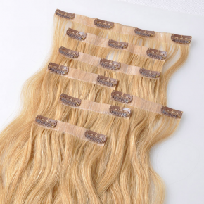 PU Clip Hair Extension Best Quality Tangle Free Shedding Free European hair