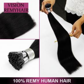 Wholesale Pre Bonded Double Drawn Remy Hair i Tip Raw