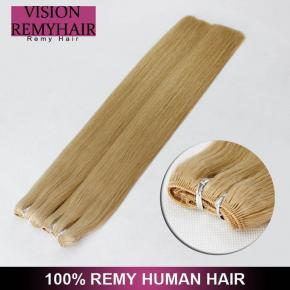 Straight Blonde Hair Weft Single Color 613