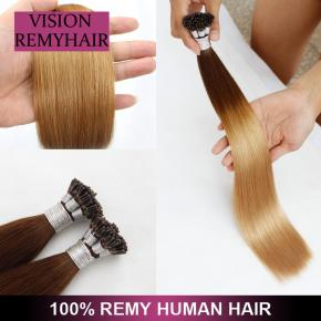 Wholesale Double Drawn i Tip 100 Virgin Indian Remy Hair