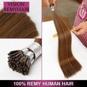Prebonded Italian Keratin Fusion Hair Raw Virgin Cuticle i Tip hair