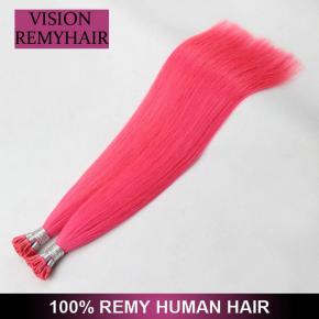 Wholesale Double Drawn i Tip 100 Virgin Indian Remy Hair Extensions