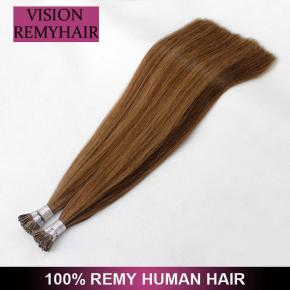 Prebonded Italian Keratin Fusion itip Hair Raw Virgin Cuticle i Tip hair