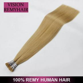 Double Drawn Brazilian Virgin Prebonded I Tip Hair Extension