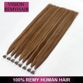 Piano color Double Drawn Brazilian Virgin Prebonded I Tip Hair