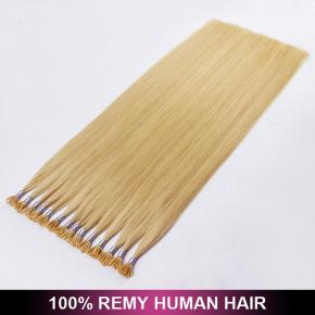 Thickness Real Human Virgin Full Cuticle Natural i Tip Hair