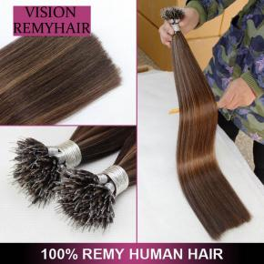 Highest Quality 100% Remy I -Tip Nano Ring Hair Extension