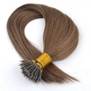 100% Real Human Hair Mink Nano Ring Metal Tip Hair  01