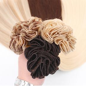 Hand Tied Weft Hair Extension Wholesale; 100% natural hair; Hand tied Hair