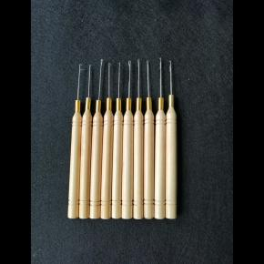 wooden handle hook needles for hair extension tools