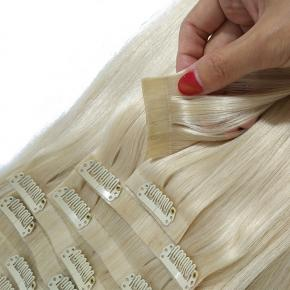 Nice Quality PU Weft Seamless Clip in Human Hair Extension