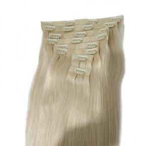 Nice Quality PU Weft Seamless Clip in Human Hair Extension1