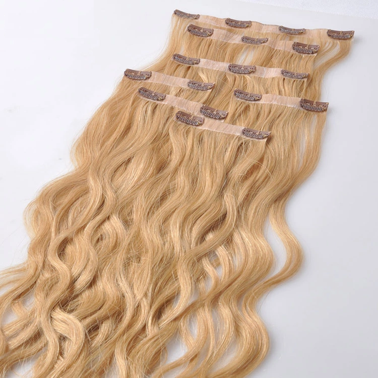 Top Grade PU Seamless Clip in Hair Extensions